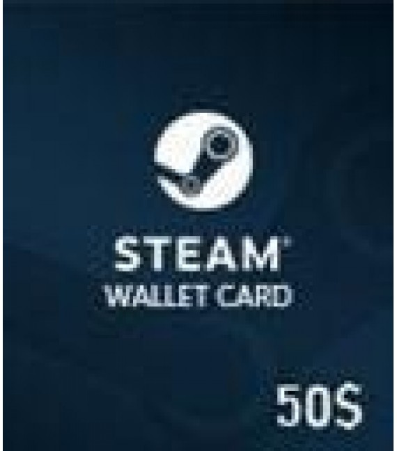 Carte Steam 50 $ (GLOBAL)