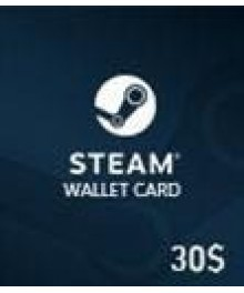 Carte Steam 30 $ (GLOBAL)