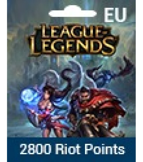 League Of Legends Eu West 2800 Riot Points