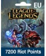 League Of Legends Eu West 7200 Riot Points