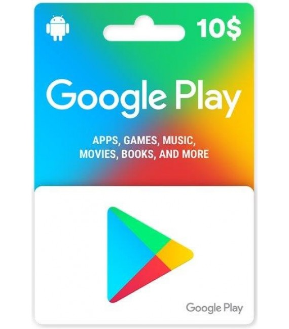 Google Play Carte 10$