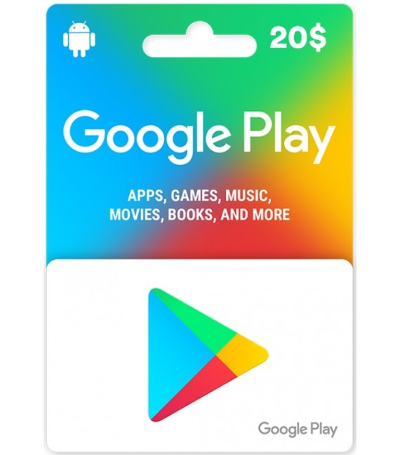 Google Play Carte 20$