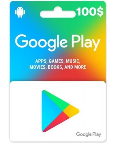 Google Play Carte 100$