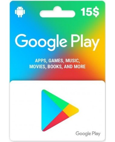 Google Play Carte 15$